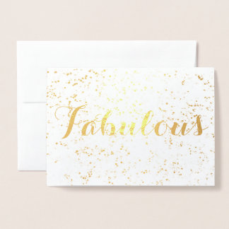 Cartão Metalizado Aniversário fabuloso festivo