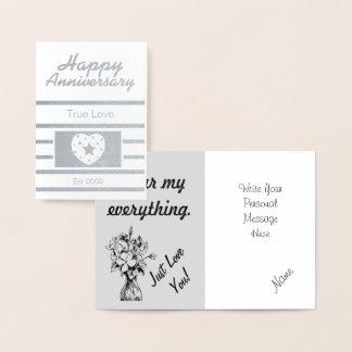 Cartão Metalizado Aniversário feliz