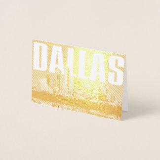 Cartão Metalizado Arquitectura da cidade de Dallas
