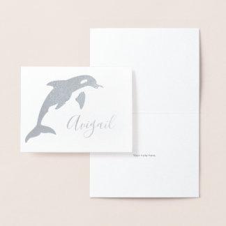 Cartão Metalizado Artigos de papelaria conhecidos da orca
