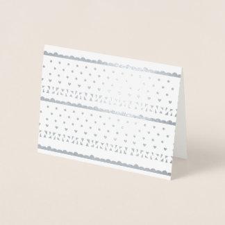 Cartão Metalizado Artigos de papelaria geométricos