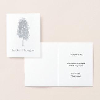 Cartão Metalizado Árvore de vidoeiro de prata - elegante 'em nossos