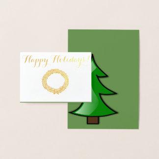 Cartão Metalizado Boas festas