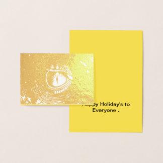 Cartão Metalizado Boas festas a todos
