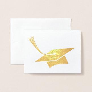 Cartão Metalizado Boné do formando
