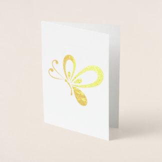 Cartão Metalizado Borboleta