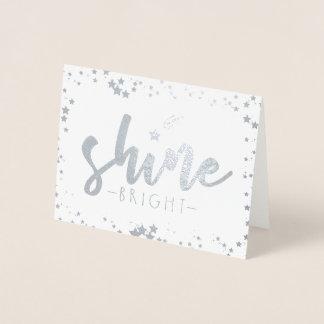 Cartão Metalizado Brilho brilhante