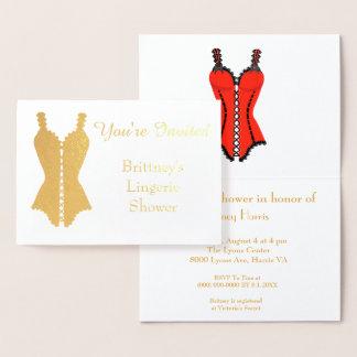 Cartão Metalizado Chá de panela da lingerie