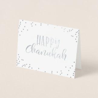 Cartão Metalizado Chanukah feliz