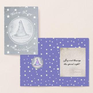 Cartão Metalizado Chapéu do Pagan do feiticeiro da bruxa