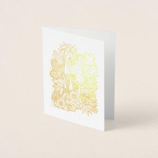 Cartão Metalizado Cogumelos fantásticos da flor da floresta