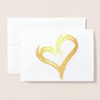 Cartão Metalizado Coração do ouro