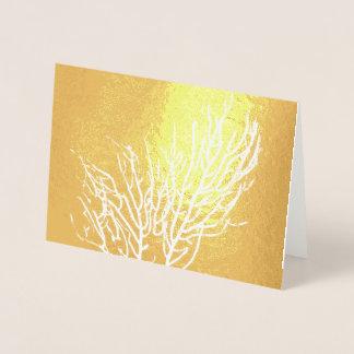 Cartão Metalizado Coral