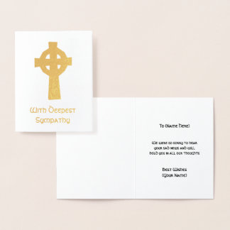 Cartão Metalizado Cruz celta - com desejos os mais profundos da