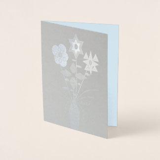 """Cartão Metalizado Da """"cartão w/Envelope da folha do vazio da entrega"""
