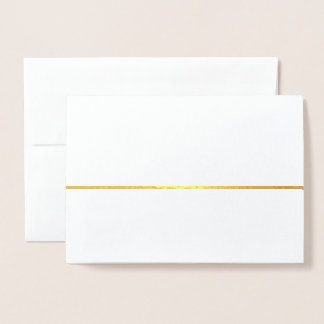 Cartão Metalizado Da celebração | de ouro o ano novo minimalista do