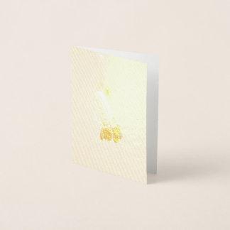 Cartão Metalizado Design de Coneflower da pradaria