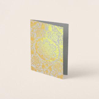 Cartão Metalizado Eleonora di Toledo - folha de ouro metálica