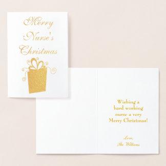 Cartão Metalizado Enfermeira do Feliz Natal
