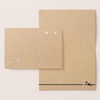 Cartão Metalizado Escolha seu vazio das estrelas da folha