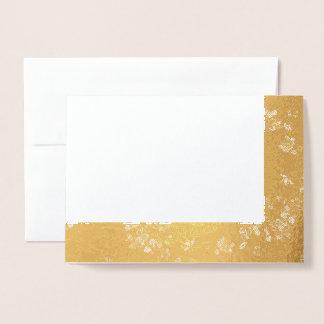 Cartão Metalizado Escolha suas linhas vazio do tecido do vintage da
