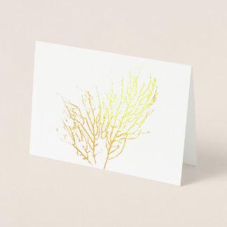 Cartão Metalizado Esqueleto coral
