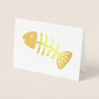 Cartão Metalizado Esqueleto Funky dos peixes
