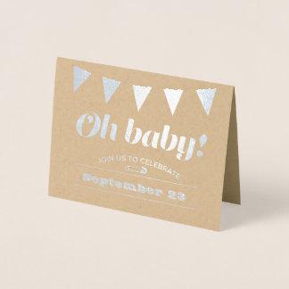 Cartão Metalizado Estamenha do bebê
