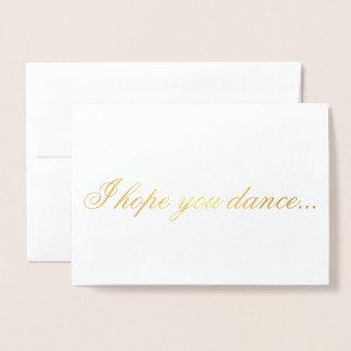 Cartão Metalizado Eu espero-o dança