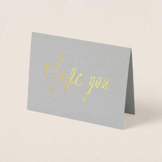 Cartão Metalizado Eu te amo