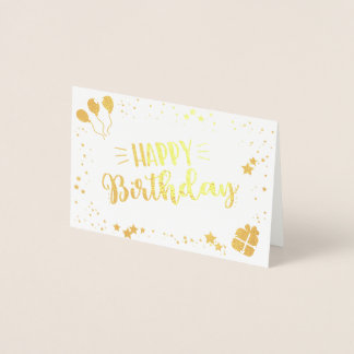 Cartão Metalizado Feliz aniversario