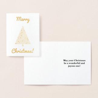 """Cartão Metalizado """"Feliz Natal!"""" & árvore de Natal"""