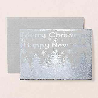 Cartão Metalizado Feliz Natal & feliz ano novo