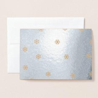 Cartão Metalizado Flocos de neve brilhantes