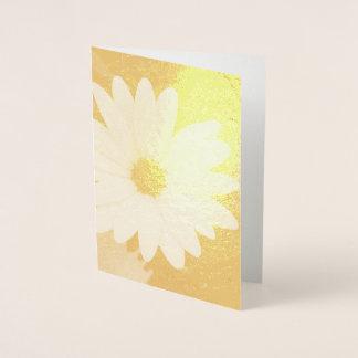 Cartão Metalizado Flor da margarida