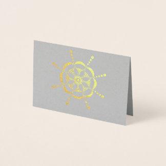 Cartão Metalizado Floral modelado