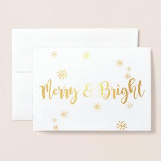 Cartão Metalizado Folha alegre e brilhante