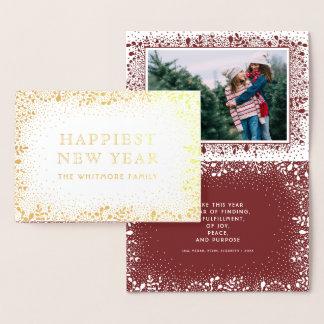 Cartão Metalizado Foto gelado do feriado dos ramos