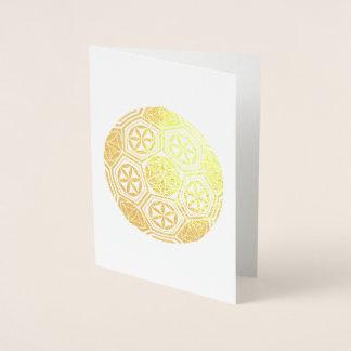 Cartão Metalizado geometria sagrado do futebol