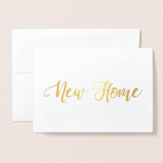 Cartão Metalizado Housewarming Home novo