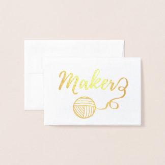 Cartão Metalizado Impressão da tipografia dos artesanatos do