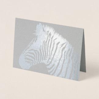 Cartão Metalizado Impressão da zebra