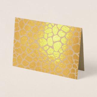 Cartão Metalizado Impressão do girafa