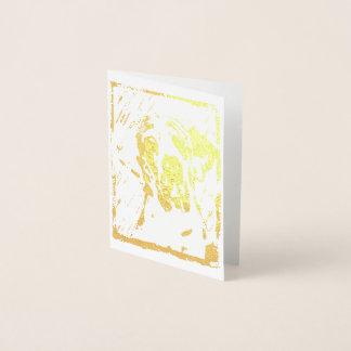 Cartão Metalizado Impressão extravagante de great dane