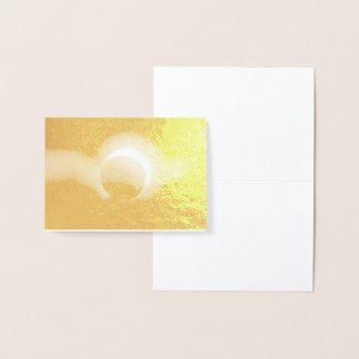 Cartão Metalizado Impressão metálico real da folha de ouro do