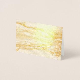Cartão Metalizado Linhas de pintura brancas do abstrato de turquesa