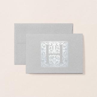 Cartão Metalizado Monograma de H