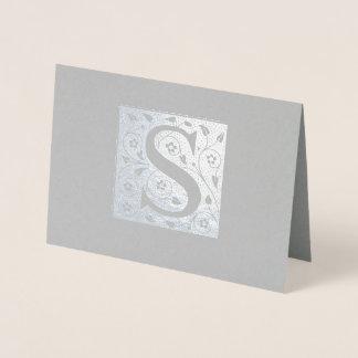 Cartão Metalizado Monograma de S