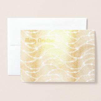 Cartão Metalizado Natal