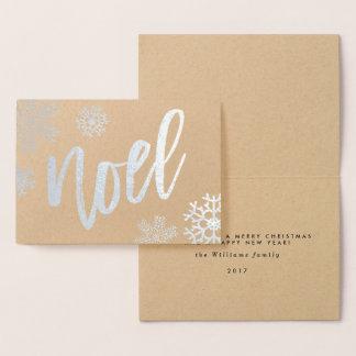 Cartão Metalizado Natal de Noel